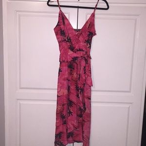 Betsey Johnson silk Hawaiian wrap dress